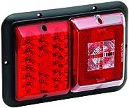Bragman Horizontal Mount LED Taillight (Red,Incandescent Backup with Black Base)