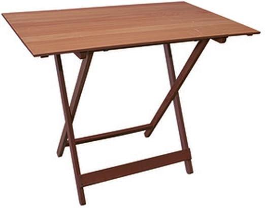 Mesa plegable de madera de haya nogal marrón 100 x 60 cm: Amazon.es: Hogar
