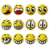 HuntGold 12Pcs Soft Fun Face Squeezing Balls [Stress Relief] Relax Emotional Toys Home Office Holiday, Funny Decoration Accessories, Wonderful Gifts