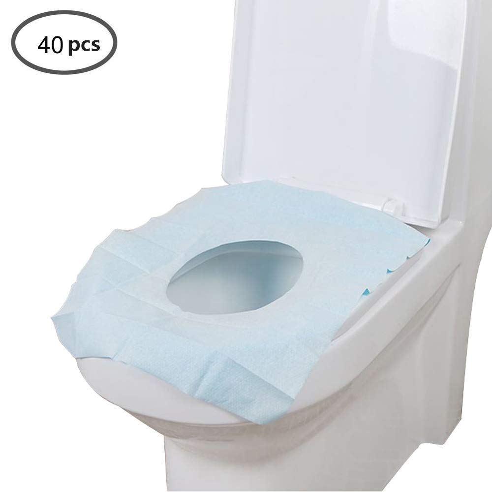 40 Pcs Seat Cushion Individually Wrapped Disposable Toilet seat Covers, Travel Safe Antibacterial Waterproof Toilet seat Covers, Disposable-40 Pcs Chair Pad (color   40 Pcs)