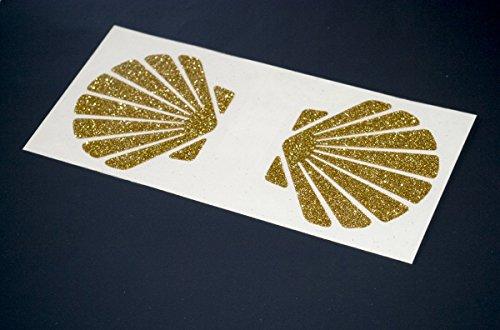 glitter little mermaid costume seashell bra iron on decal / heat transfer vinyl / gold or silver t-shirt designs / Christmas costume / New Years Eve costume diy ()
