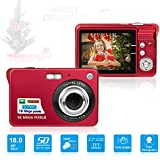 HD Mini Digital Camera with 2.7 Inch TFT LCD Display, Digital Video Camera Red- Sports,Travel,Camping,Birthday&Christmas Gift