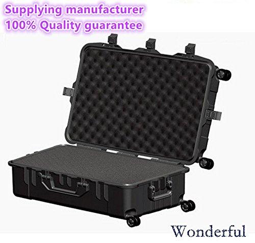 Wonderful pc-7528 F Watertight Cases使用ABS素材、高強度と影響抵抗、絶対密封防水、防塵for yourカメラと機器エスコート(ブラック/オレンジ)   B01EJE4L4I