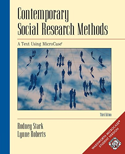 Contemporary Social Research Methods Using MicroCase, InfoTrac Version: Workbook (With Infotrac, Workbook and Revised CD-ROM) Pdf
