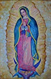 Virgen de Guadalupe ORIGINAL GENUINE hand OIL PAINTING ON CANVAS Virgin Mary picture