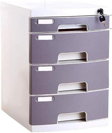 Archivadores de fichas Archivador Plano Caja de almacenamiento de cajones de oficina Escritorio de plástico A4 Archivador Confidencialidad del organizador con cerradura (Size : Large 4-Layers) : Amazon.es: Hogar