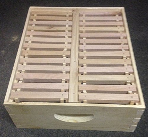 Eco Bee Box full medium pine comb super/box. Holds 26 foundationless frames. Comes assembled by Eco Bee Box Utah Hive Full