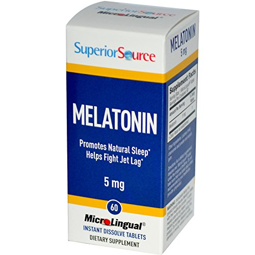 Superior Source, MicroLingual, Melatonin, 5 mg, 60 Instant Dissolve Tablets - 2pc