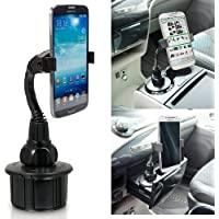 ChargerCity 8 Flexible Neck Car Vehicle Drinks Cup Holder Mount for Apple iPhone X 8 7 6s Plus Samsung Galaxy S7 S8 Note Droid Moto X LG (Holder can expand up to 3.6 inches)