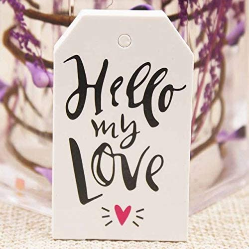 OBELLA BOUTIQUE Feiluan 1000pc gold foil love wedding tag card DIY paper handmade gift swing hang tag card pink heart married favors tag card