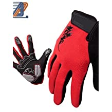 Ling@ Giant Mountain Bike Riding Gloves All Fingers Long Finger Touch Gloves Outdoor Warm Gloves
