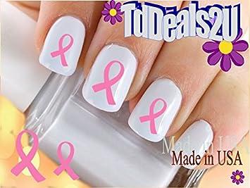 Amazon Com Ribbons Breast Cancer Awareness Ribbon 2 Pink Nail