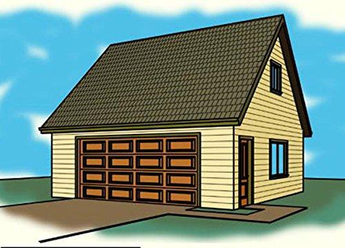 Cad Northwest Residential Garage Blueprint - Style AC - 24' x 24' Garage Plan