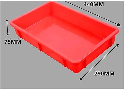 Caja de plástico engrosada, caja de rotación rectangular, caja ...