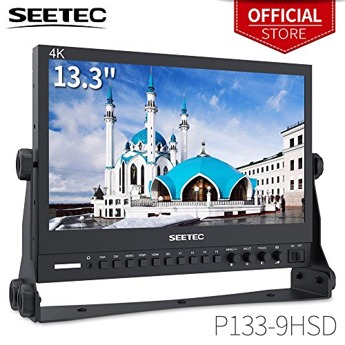 - SEETEC P133-9HSD 13.3 Inch Pro SDI Broadcast Monitor Professional LCD Director Studio Production Monitoring IPS Screen Full HD 1920×1080 Aluminum Design with 3G-SDI 4K HDMI AV YPbPr