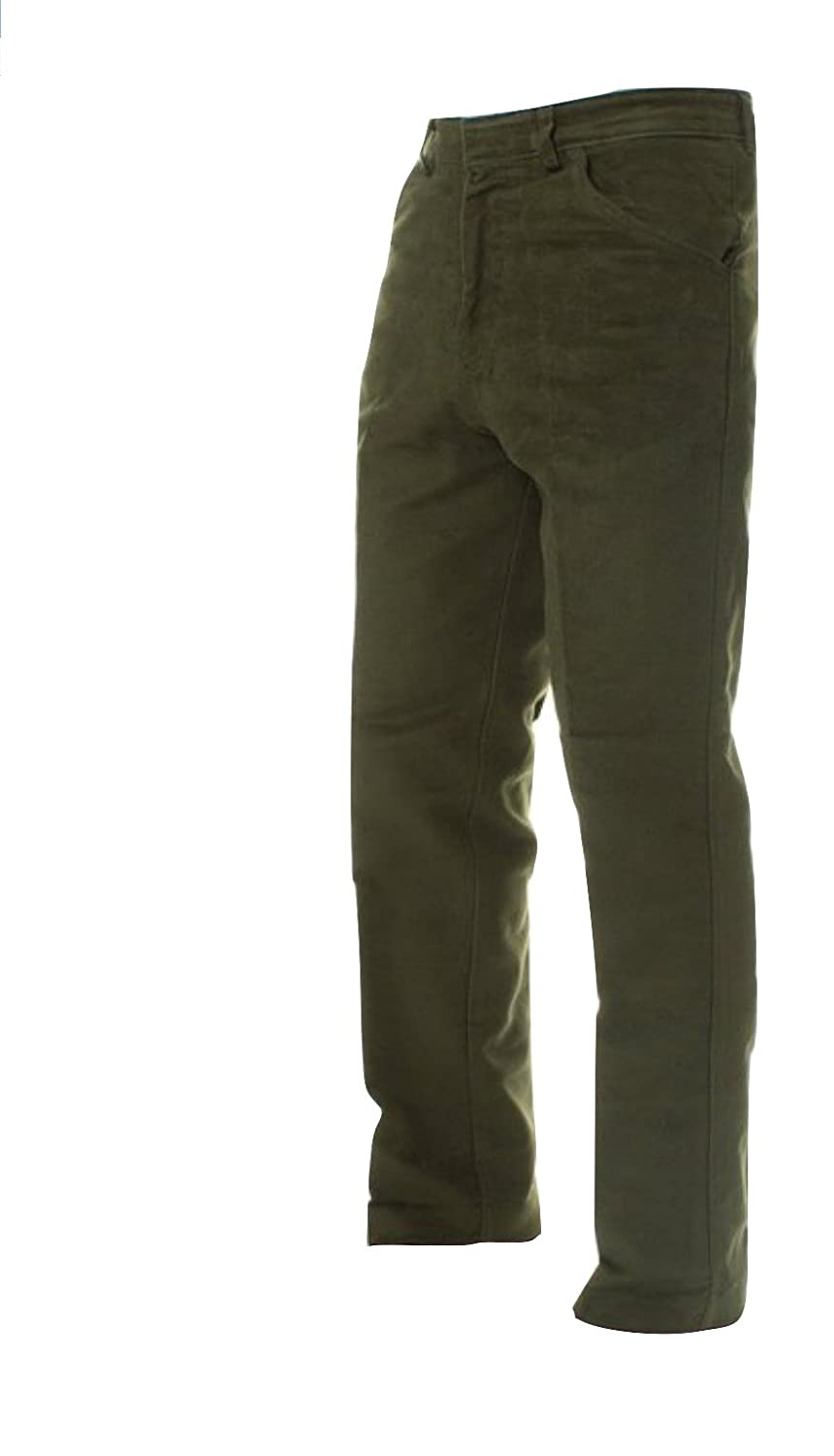 Carabou Mens Soft Feel Moleskin Windproof Outdoor Trousers Sizes 32 – 46 Country Wear Ideal for Outdoors Hunting Walking Shooting Fishing Olive Lovat Navy