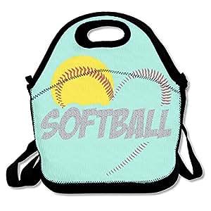 Amazon.com: Amor Softball bolsas de almuerzo picnic de viaje ...
