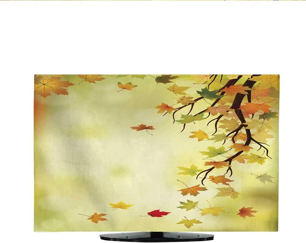 TV Cover Autumn Bouquet with Flowers Berries Apples Conos and Leaves Vector 30