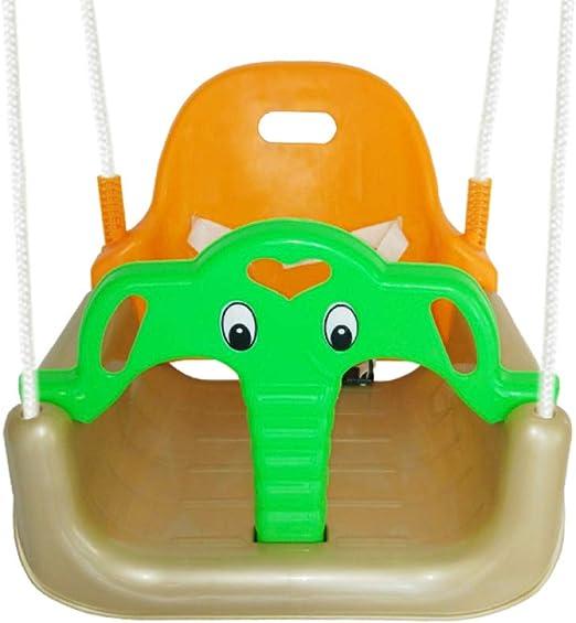 DONG Columpio para Niños De Plástico Bebé Jardín Swing Asiento Infantil De Plegable Interior Y Exterior Movimiento Juguete para Colgar del árbol,Yellow: Amazon.es: Hogar