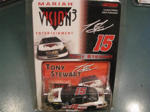 e Was Never Raced....1996 Tony Stewart #15 Mariah Vision 3 Entertainment Pontiac Grand Prix Paint Scheme 1/64 Scale Diecast Car Limited Edition Action Racing Collectables ARC ()
