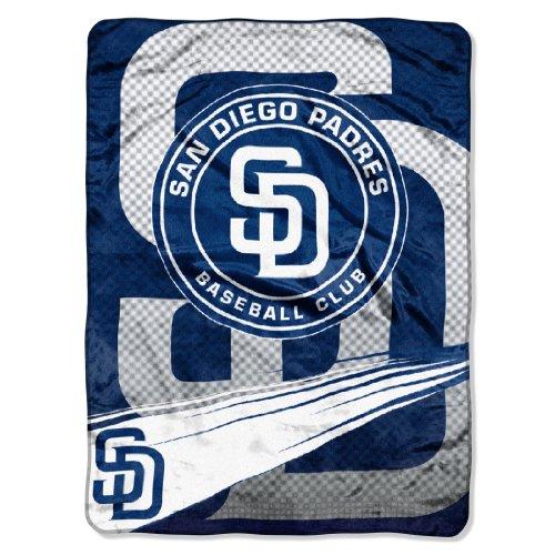 MLB San Diego Padres Speed Plush Raschel Throw, 60