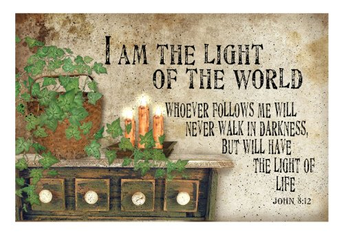 Ohio Wholesale Radiance Lighted Canvas Wall Art, Light of the World Design, from our Everyday Collection - Christian Canvas