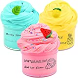 Partyforu 3 Pack Butter Slime Kit, with Yellow