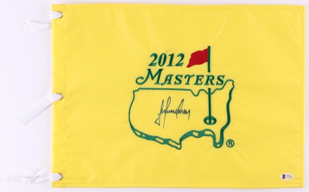 Trevor Immelman Signed 2012 Masters Pin Flag (Beckett COA) Winner of the 2008 Masters Tournament