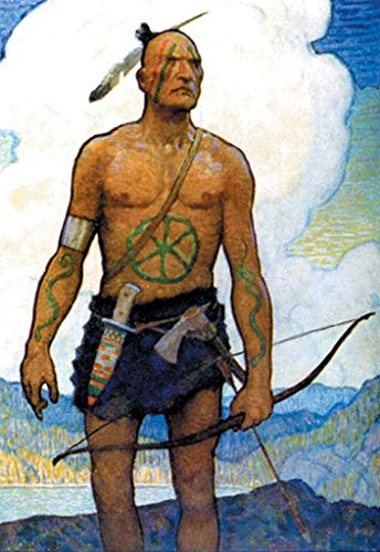 ArtParisienne The Last of The Mohicans N.C. Wyeth 32x48-inch Wall Decal