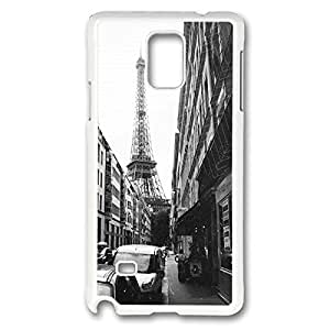 Samsung Galaxy Note 4 Case White -Paris Custom Polycarbonate Hard Back Case Cover for Samsung Galaxy Note 4 White-42016