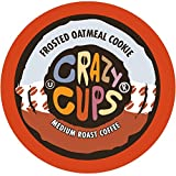 Crazy Cups Flavored Coffee, for the Keurig K Cups 2.0 Brewers, Frosted Oatmeal Cookie, 22 Count