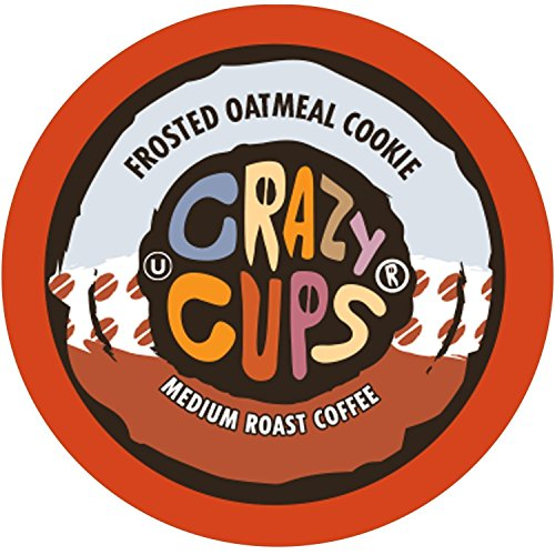 (Crazy Cups Flavored Coffee, for the Keurig K Cups 2.0 Brewers, Frosted Oatmeal Cookie, 22 Count)
