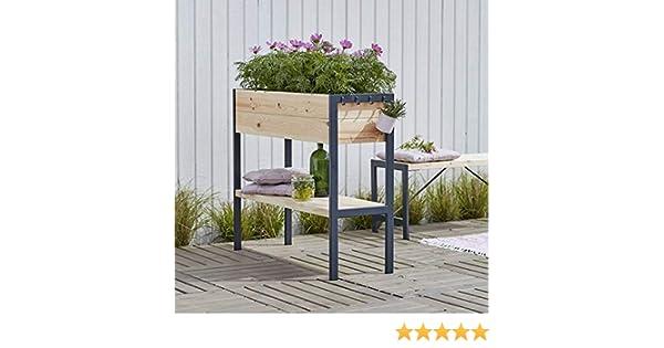 Arriate alto de madera de pino y abeto - Jardinería de suelo ...