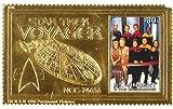 Star trek - Voyager, Collectors Gold postage Stamp, Saint Vincent
