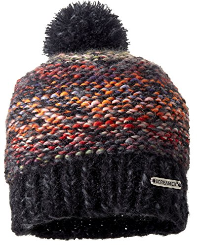 Screamer Womens Chellene Beanie  Carbon Charcoal  One Size