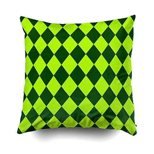 Shorping Zippered Pillow Covers Pillowcases 18X18 Inch Christmas Patterns a St Patrick39;s Day Concept Wallpaper Decorative Throw Pillow Cover,Pillow Cases Cushion Cover Home Sofa Bedding (Invite Mod)