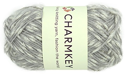 Charmkey Love Knot Yarn Upscale Wool Cotton Blend 4 Medium 10 Ply Knitting Crocheting Soft Mesh Yarn, 1 Skein, 3.53 Oz (Wind Chime)