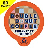 keurig 80 count k cups - Double Donut Breakfast Blend Coffee, in Recyclable Single Serve Cups for Keurig K-Cup Brewers, 80 Count