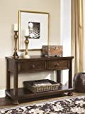 Ashley Furniture Signature Design - Porter Sofa Table - Rustic Style Entertainment Console Table - Rectangular - Brown