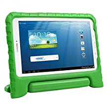 HDE Kids Shockproof Case for Samsung Galaxy Tab E 9.6 Inch Protective Cover Handle Stand (Green)