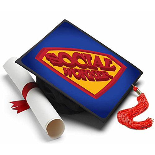 Tassel Toppers Social Worker Graduation Cap Decorated Grad Caps - Decorating Kits -