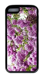 iPhone 5c Case Unique Cool iPhone 5c TPU Black Cases Lilac Blossom Design Your Own iPhone 5c Case