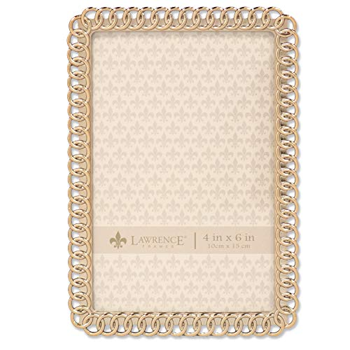 Lawrence Frames 4x6 Gold Metal Eternity Rings Picture Frame,