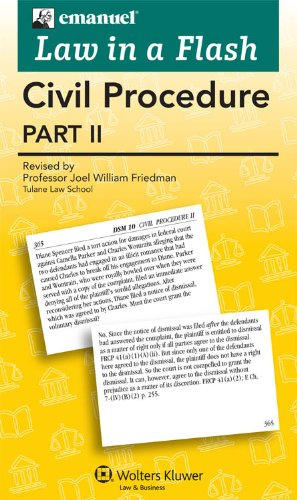Law in a Flash Cards: Civil Procedure II