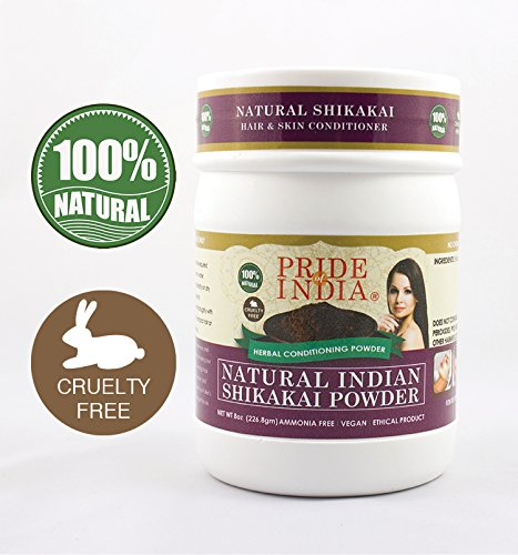 Pride Of India - Indian Shikakai (Acacia Concinna) Herbal Hair & Skin Care Powder, Half Pound, 100% Natural (Powder Shikakai Amla)