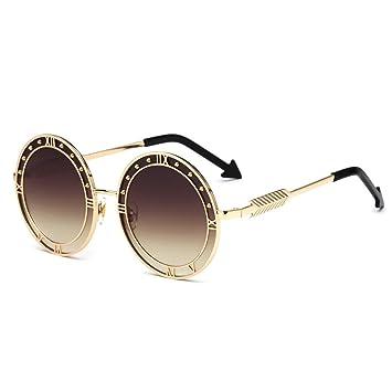 GUO La Caja Ovalada de Metal Gafas Gafas de Sol, Flecha ...