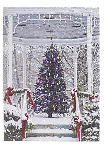 Oak Street Christmas Gazebo LED Art 8