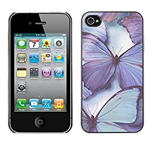 LASTONE PHONE CASE / Slim Protector Hard Shell Cover Case for Apple Iphone 4 / 4S / Blue Spring Nature