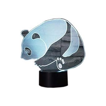 Lámpara 3D Lámpara de noche LED Panda Decoración Escritorio de ...