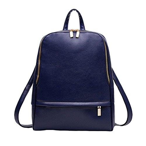Damas De Moda De Viaje Mochila De La Universidad Viento Hombro Bolso Con Una Bolsa De Gran Capacidad Blue